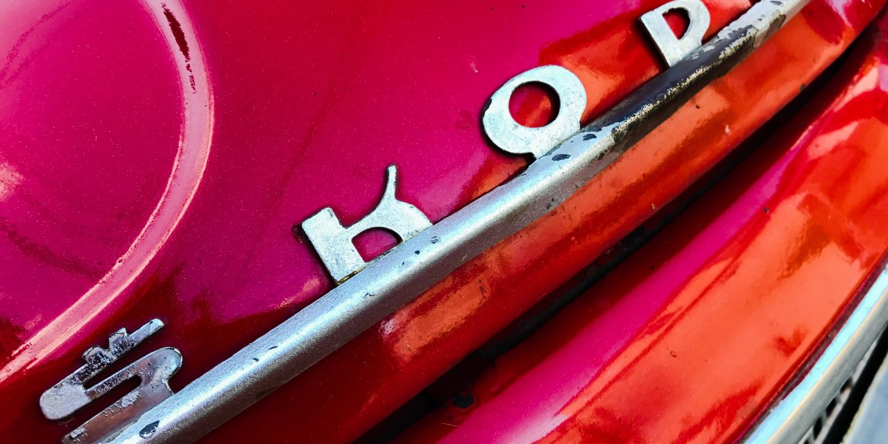 Skoda, a detail of the classic car in Cuba