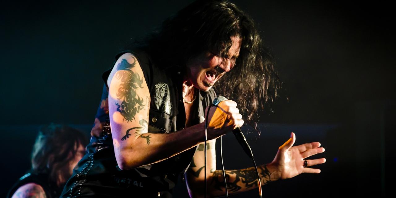 Jizzy Pearl performing at Croydon Rocks 2018